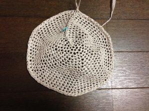 リーフィーで編む麦わら帽子6