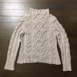 軽量フィッシャーマンズセーターが完成しました^^