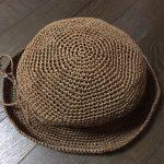 ダイソーのペーパーヤーンで麦わら帽子