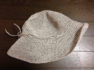 リーフィーで編む麦わら帽子(側面)
