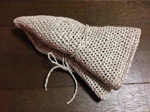 リーフィーで編む麦わら帽子(折りたたみ)