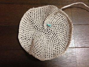 リーフィーで編む麦わら帽子4