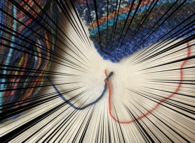 段染め糸で突然現れる結び目の解決方法